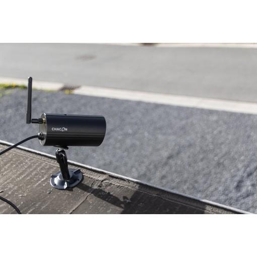 Kit met 2 draadloze camera's met touchscreen