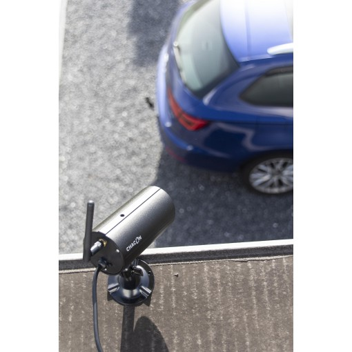 Kit with two wireless cameras with IP touchscreen