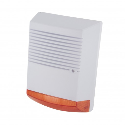 Dummy alarm siren with flash