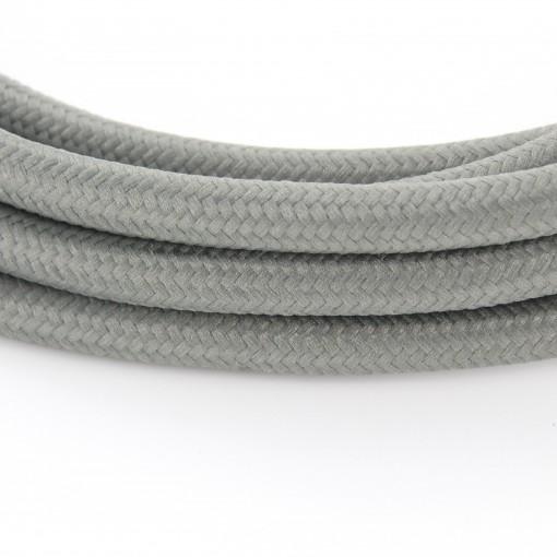 Câble textile soie gris HO3VV-F 2x0,75mm2 3m cuivre