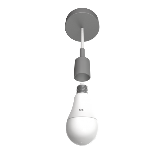 Set of 2 connected LED bulbs and remote control