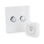 Paquete de iluminacion designDiO 2.0Modulo iluminacion y interruptor blanco