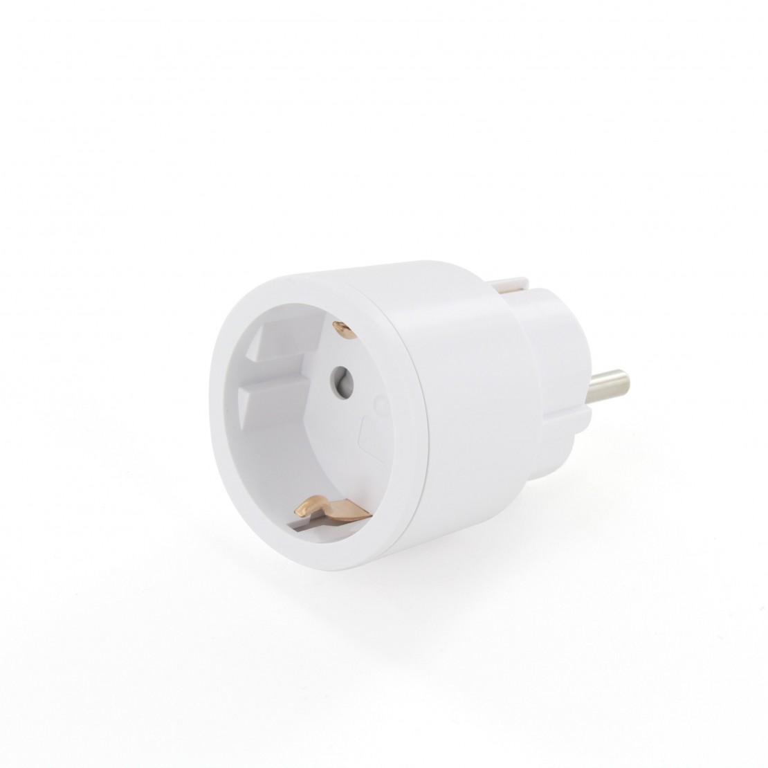 Juego de 4 mini enchufes de encendido//apagado color blanco Chacon 54671 3000 W, incluye mando a distancia
