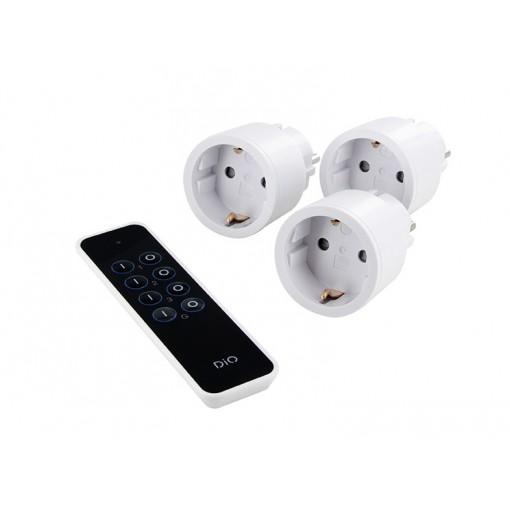 Paquete 3 mini enchufes & DiO First (2300W, SCH)mando a distancia