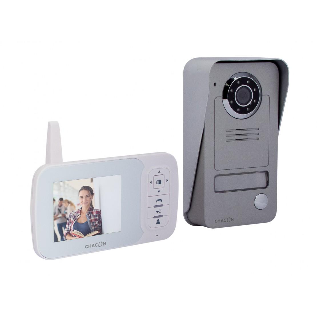 """Videoporteiro digital sem fiosfios 2.4GHz com 3.5"""" LCD"""