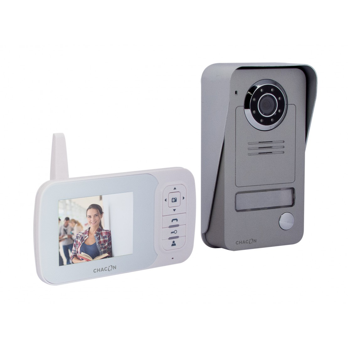 "Videoportero digital sin hilos 2.4GHz con 3.5"" LCD"
