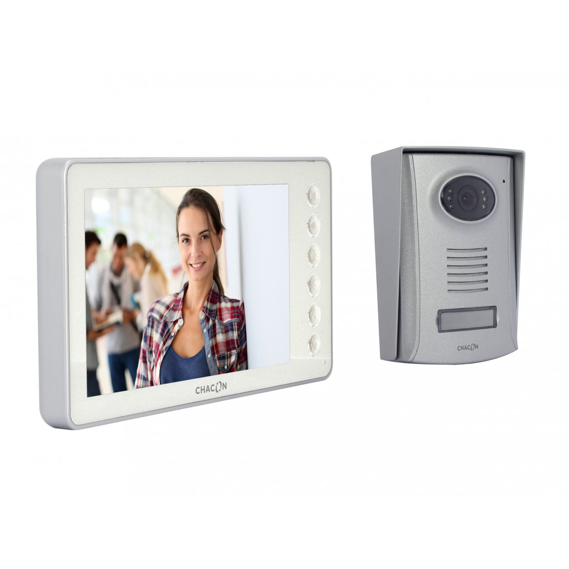 Videofoon 2 draden 7'' - Wit