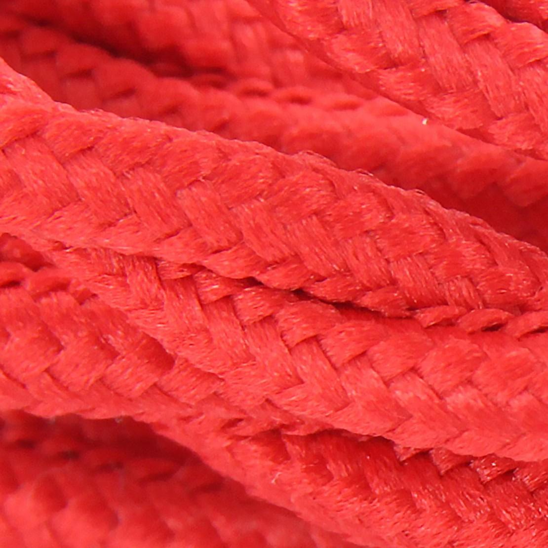 Cable textile soie torsadé rou HO3VV-F 2x0,75mm2 3m