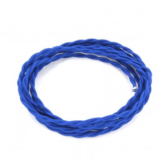 Cable textile soie torsadé ble HO3VV-F 2x0,75mm2 3m