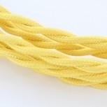 Cable textile soie torsadé jau HO3VV-F 2x0,75mm2 3m