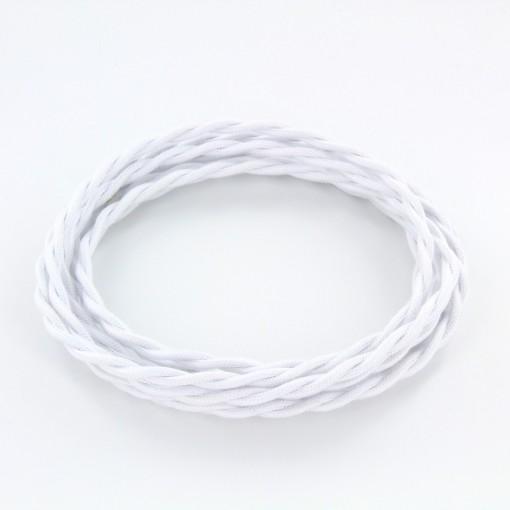 Cable textile soie torsadé bla HO3VV-F 2x0,75mm2 3m
