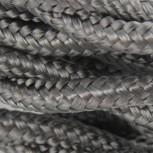 Cable textile soie torsadé gri HO3VV-F 2x0,75mm2 3m