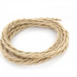 Cable textile jute torsadé HO3VV-F 2x0,75mm2 3m