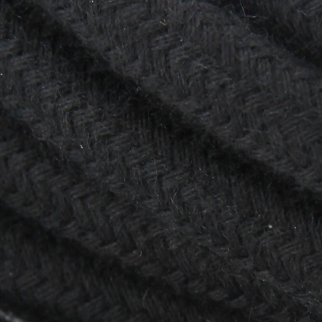 Cable textile coton noir HO3VV-F 2x0,75mm2 3m