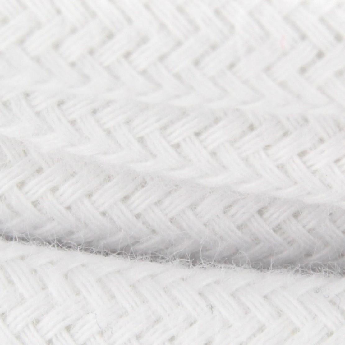 Cable textile coton blanc HO3VV-F 2x0,75mm2 3m