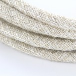 Cable textile lin naturel neut HO3VV-F 2x0,75mm2 3m