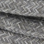 Cable textile lin naturel gris HO3VV-F 2x0,75mm2 3m