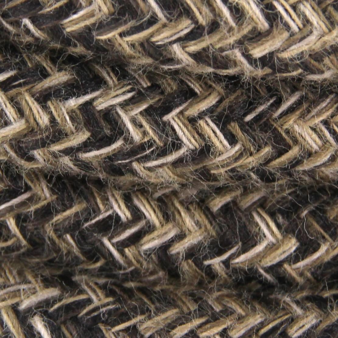 cable textile lin naturel marr HO3VV-F 2x0,75mm2 3m