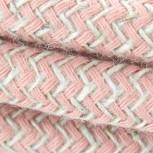 Cable de textil de algodón zigzag rosa 2x0,75 mm2