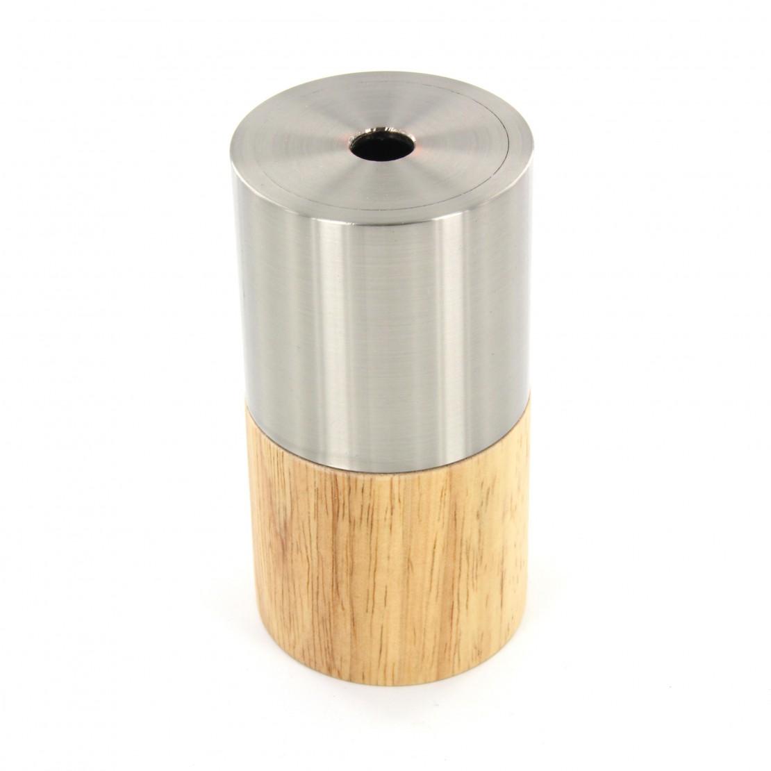 Fitting hout en zilver metaal