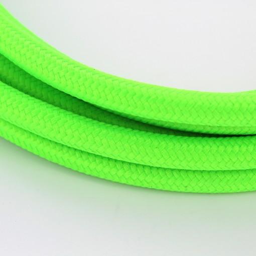 5 m M/áxima seguridad a prueba de golpes. Klartext Cable textil trenzado luminoso para iluminaci/ón Atenci/ón: cable tierra incluido 3 x 0,75 mm marfil