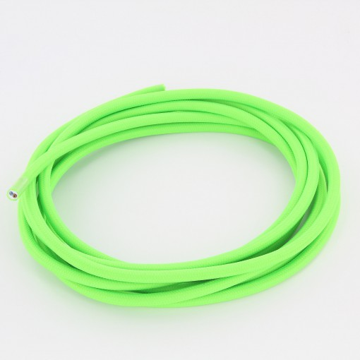 Cable textil trenzado luminoso para iluminaci/ón M/áxima seguridad a prueba de golpes. 3 x 0,75 mm Atenci/ón: cable tierra incluido 5 m marfil Klartext