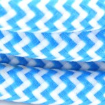 Cable textile soie zigzag turq HO3VV-F 2x0,75mm2 3m
