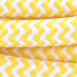 Cable de textil zigzag amarillo y blanco 2x0,75 mm2