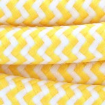 2 x 0.75 mm2 yellow and white zigzag cable