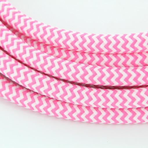 Cable textile soie zigzag fusc HO3VV-F 2x0,75mm2 3m