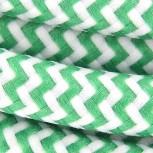 Cable textile soie zigzag vert HO3VV-F 2x0,75mm2 3m