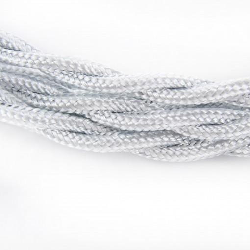 Cable textile soie torsadé arg HO3VV-F 2x0,75mm2 3m