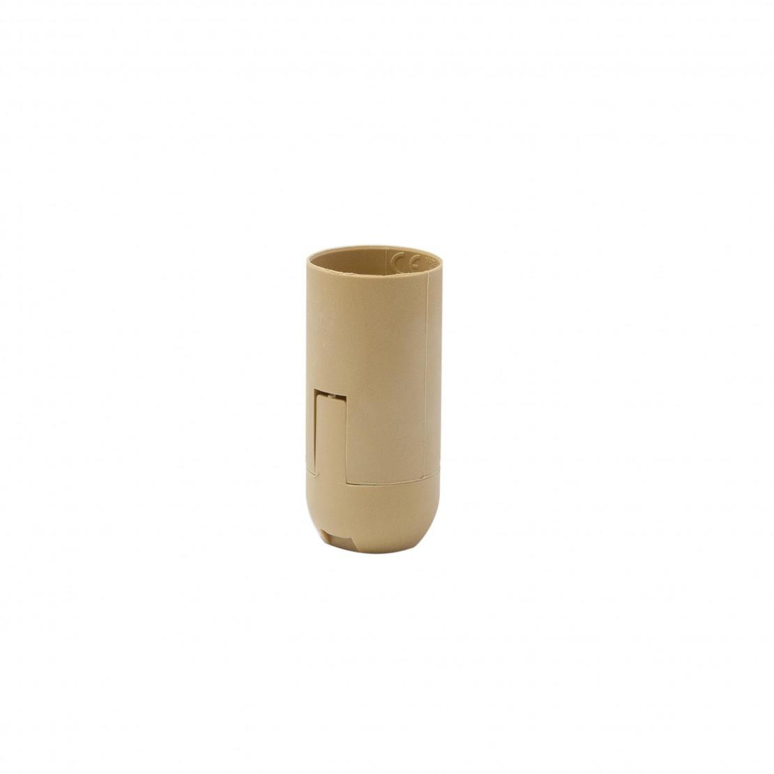 Casquilho liso E14 ligações rápidas - dourado