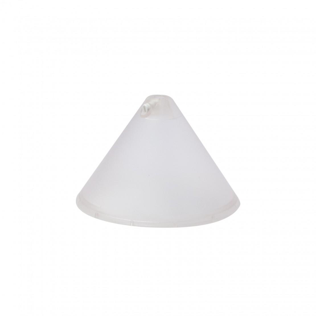 Cone-shaped ceiling rose, 106 mm dia., transparent - V