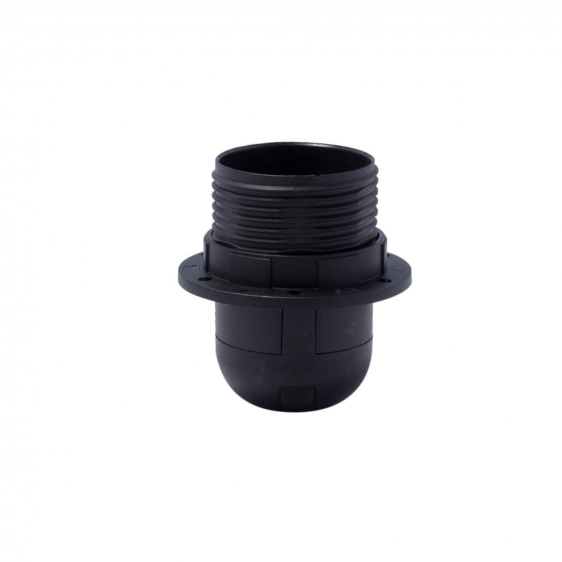 Semi-threaded E27 quick-connect lamp holder, black