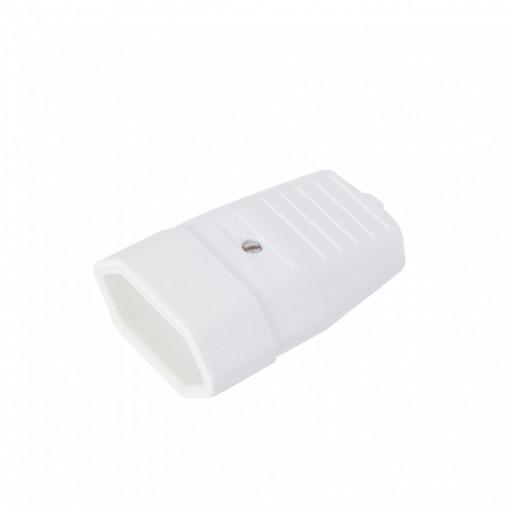 Ficha móvel plana 2,5A branca (2pçs.)