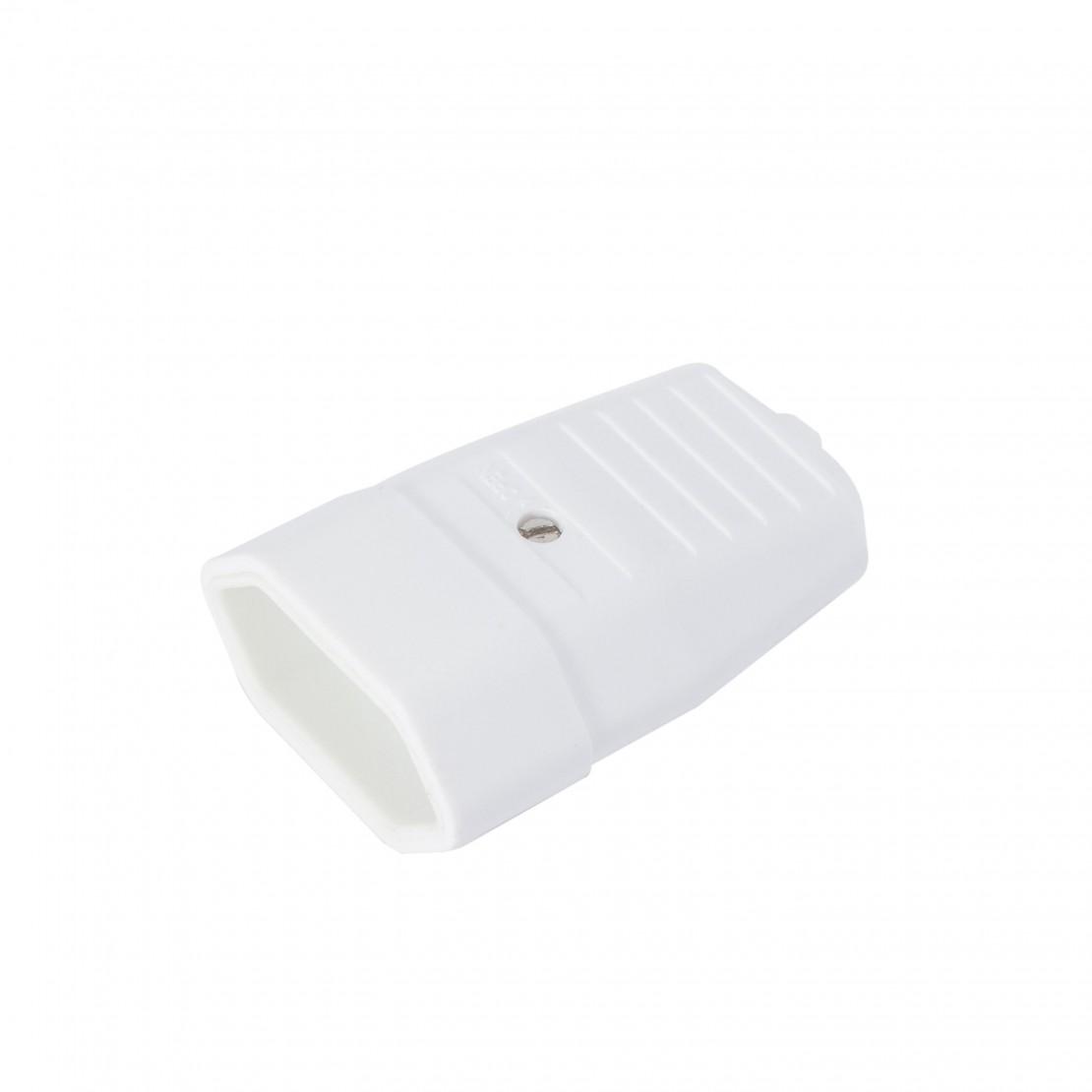 Platte stekker, 2,5A, wit (2 stuks)