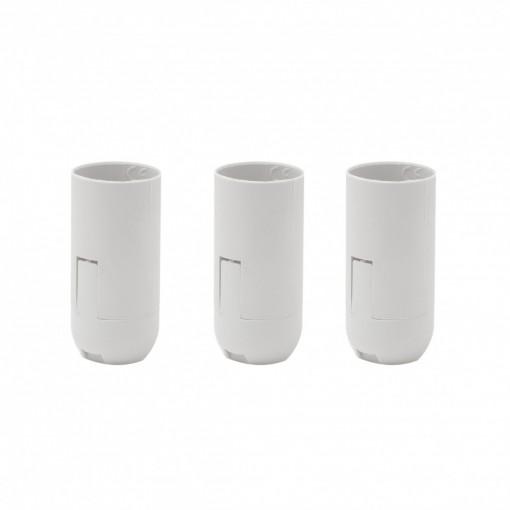 Douille lisse E14 connexions blanc (3pcs)