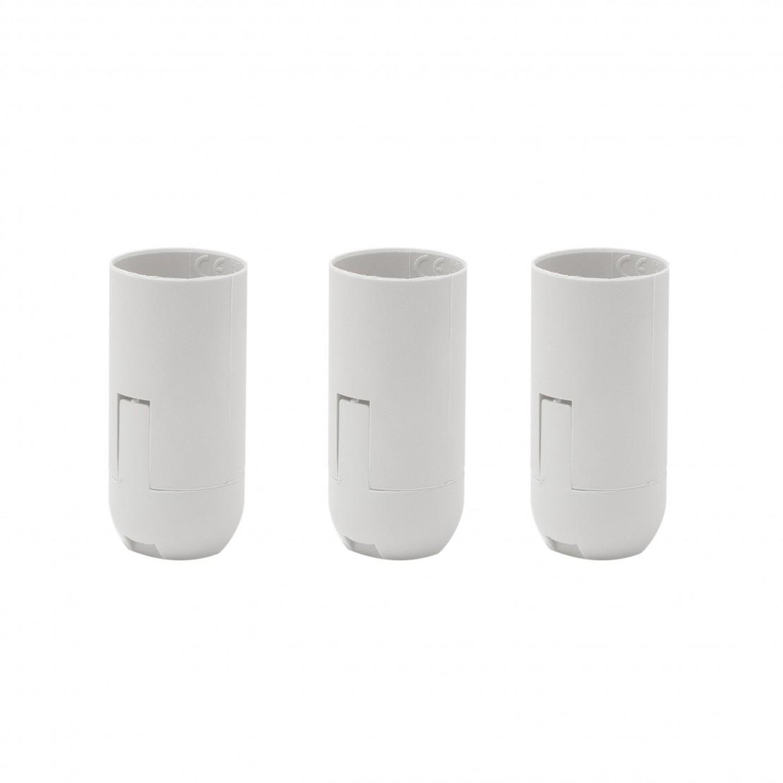 Portalámparas liso E14 conexiones blanco (3 uds)