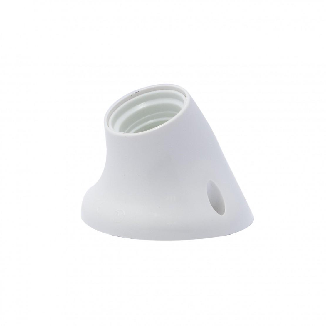 Angled wall light, white - E27 bulb
