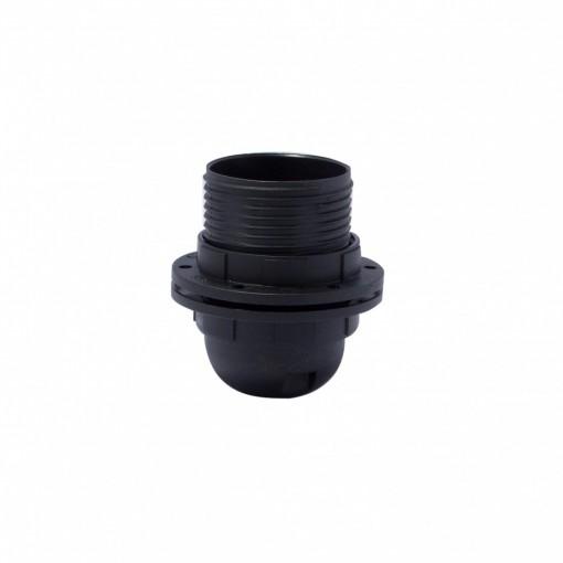 Fitting, E27, met buitenschroefdraad, zwart, snelkoppeling