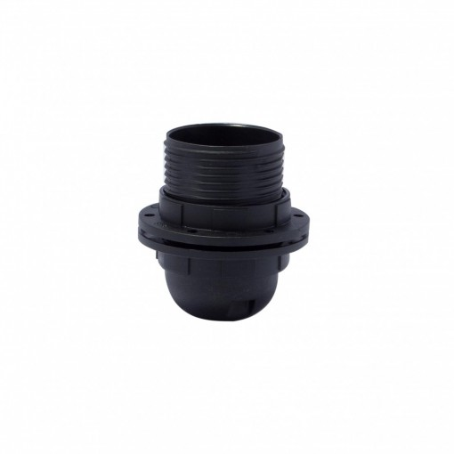 Threaded E27 quick-connect lamp holder, black