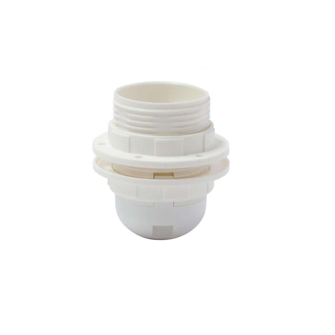 Casquilho roscado E27 branco com ligações rápidas