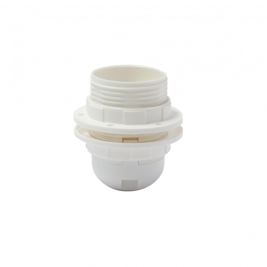 Threaded E27 quick-connect lamp holder, white
