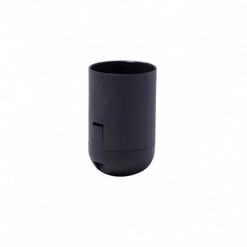 Casquilho liso preto E27ligações rápidas