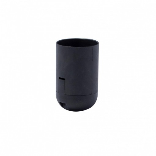 E27 smooth quick-connect lamp holder, black