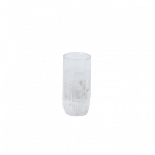 Casquilho liso E14 transparente ligações rápidas