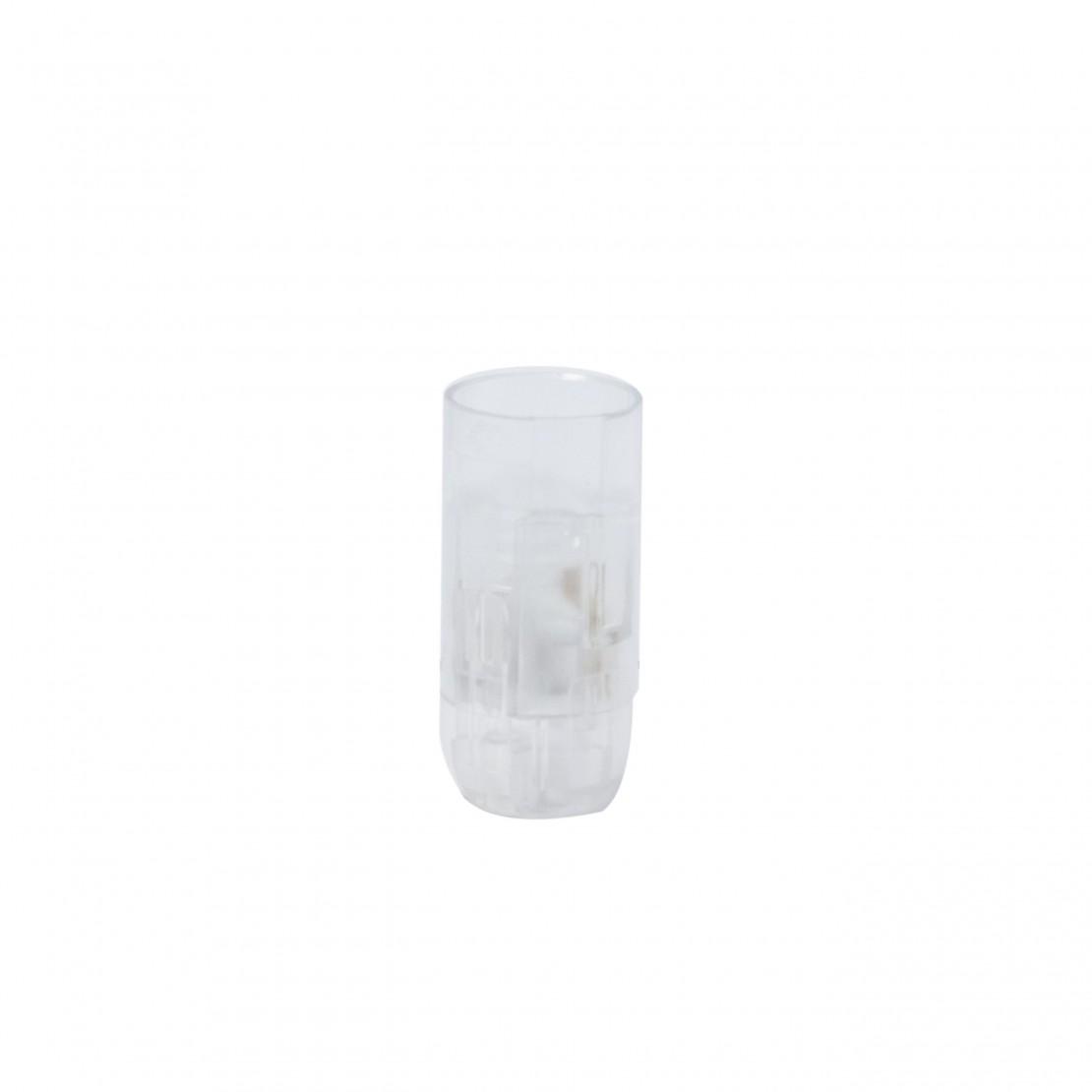 Portalámparas liso E14 transparente conexiones rápidas