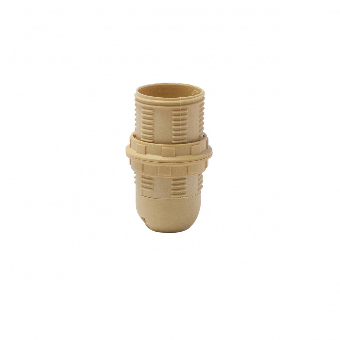 Threaded E14 quick-connect lamp holder, gold