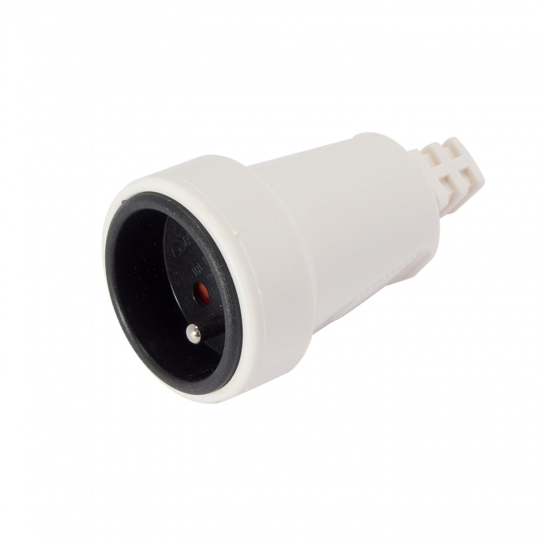 Round white mobile socket 16 A